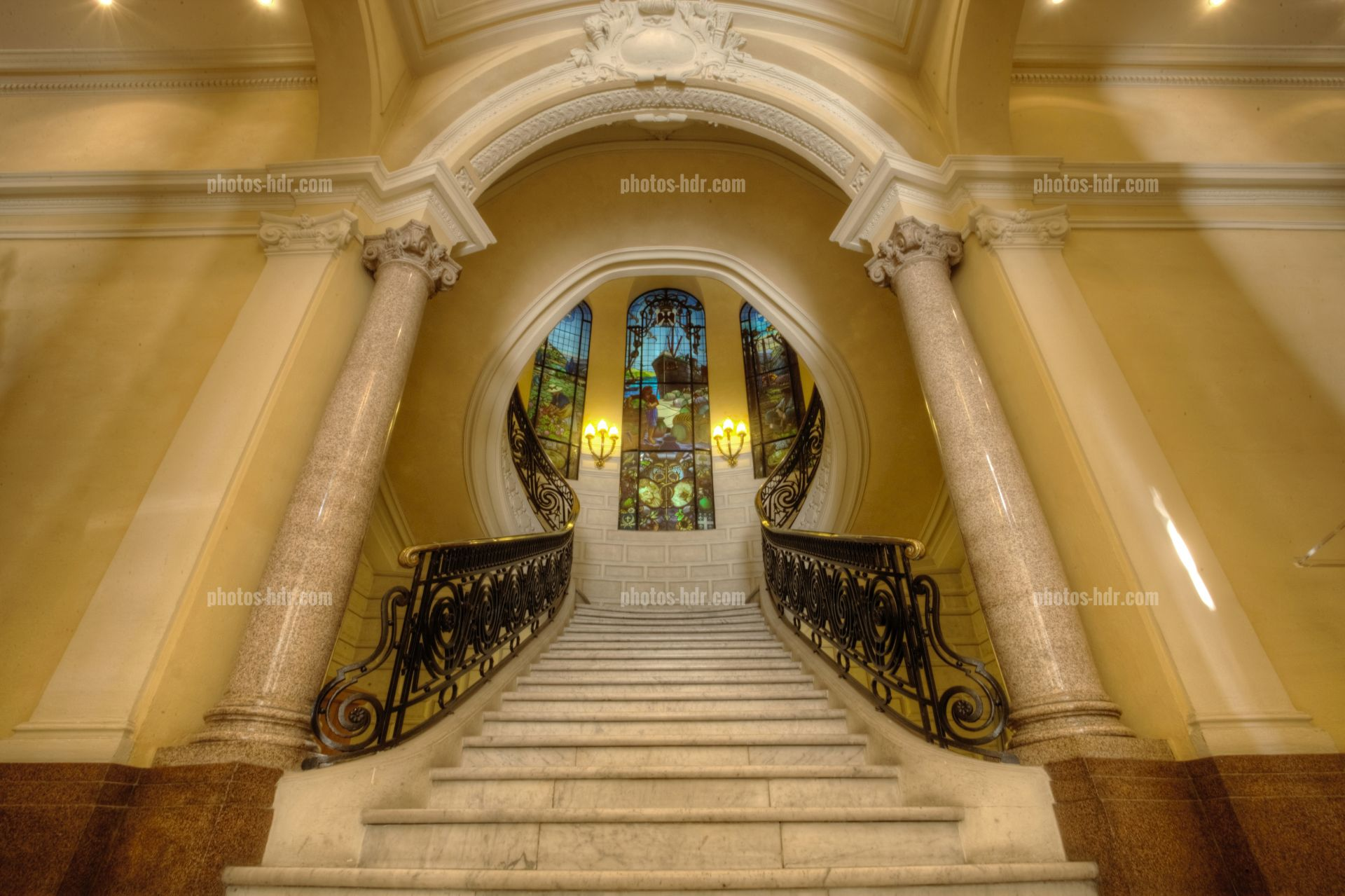 Photo grand escalier cci nice cote d 39 azur photos hdr - Chambre de commerce italienne de nice ...