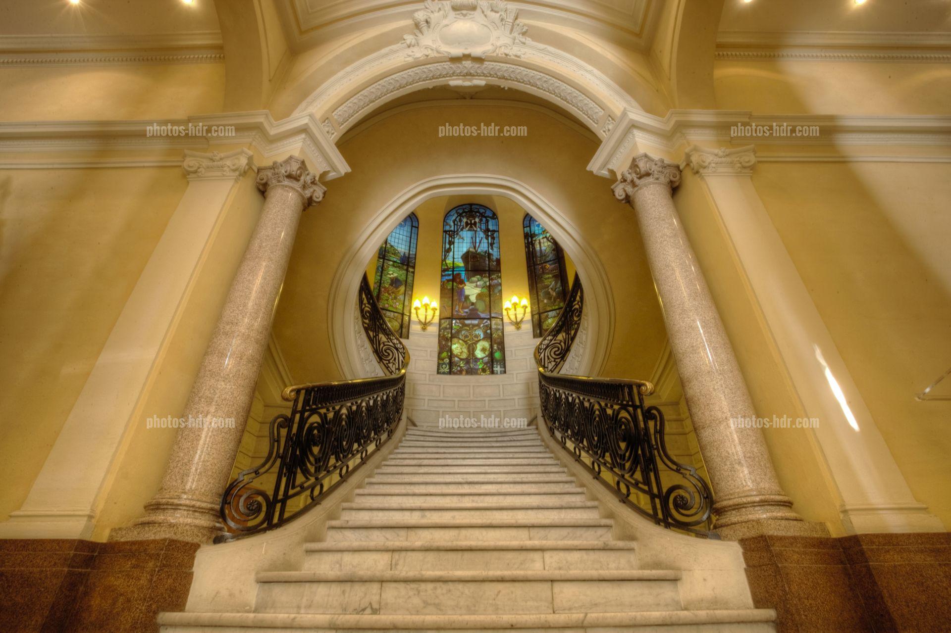 Photo grand escalier cci nice cote d 39 azur photos hdr - Chambre de commerce et d industrie nice cote d azur ...