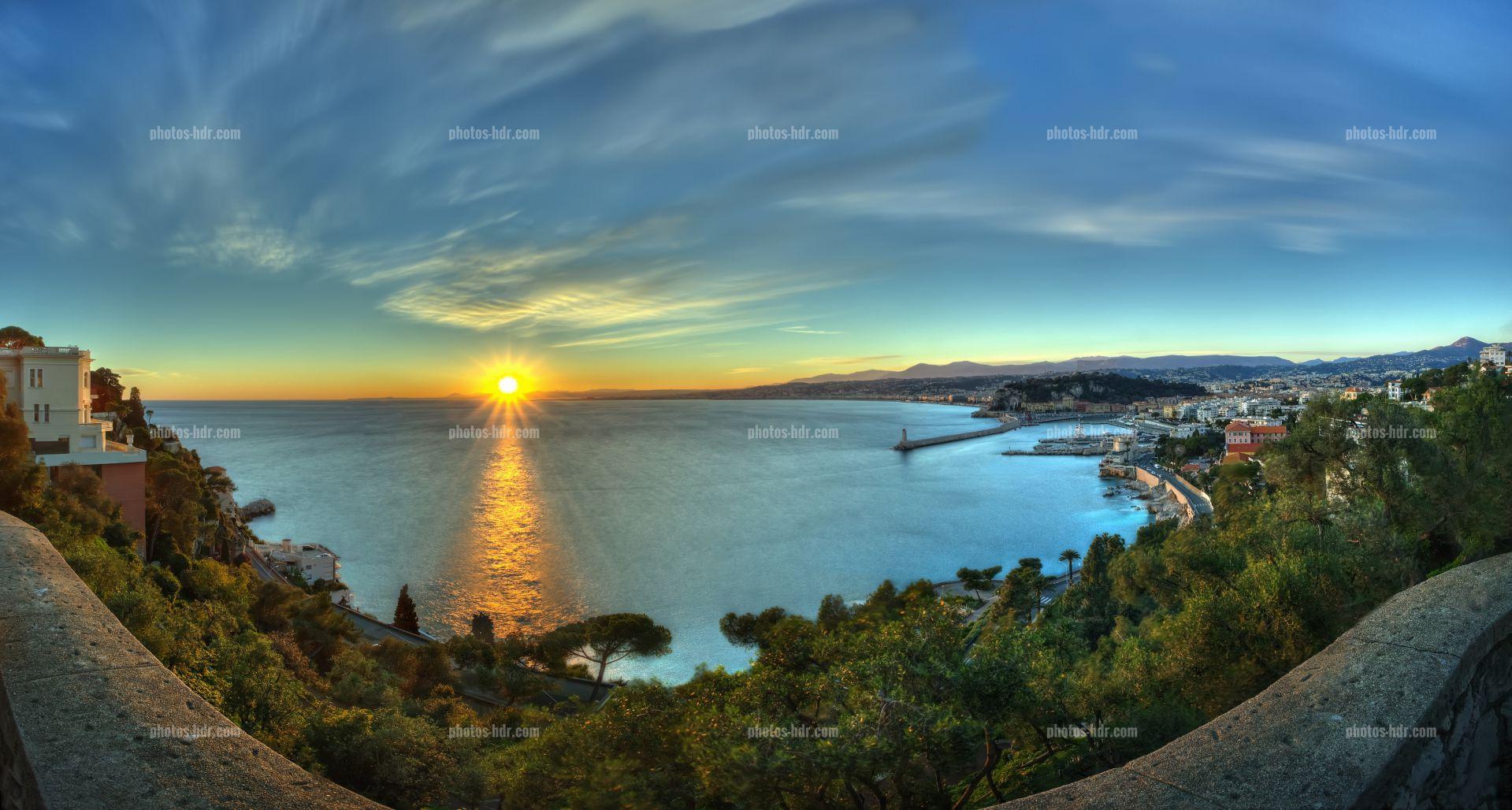 coucher soleil nice