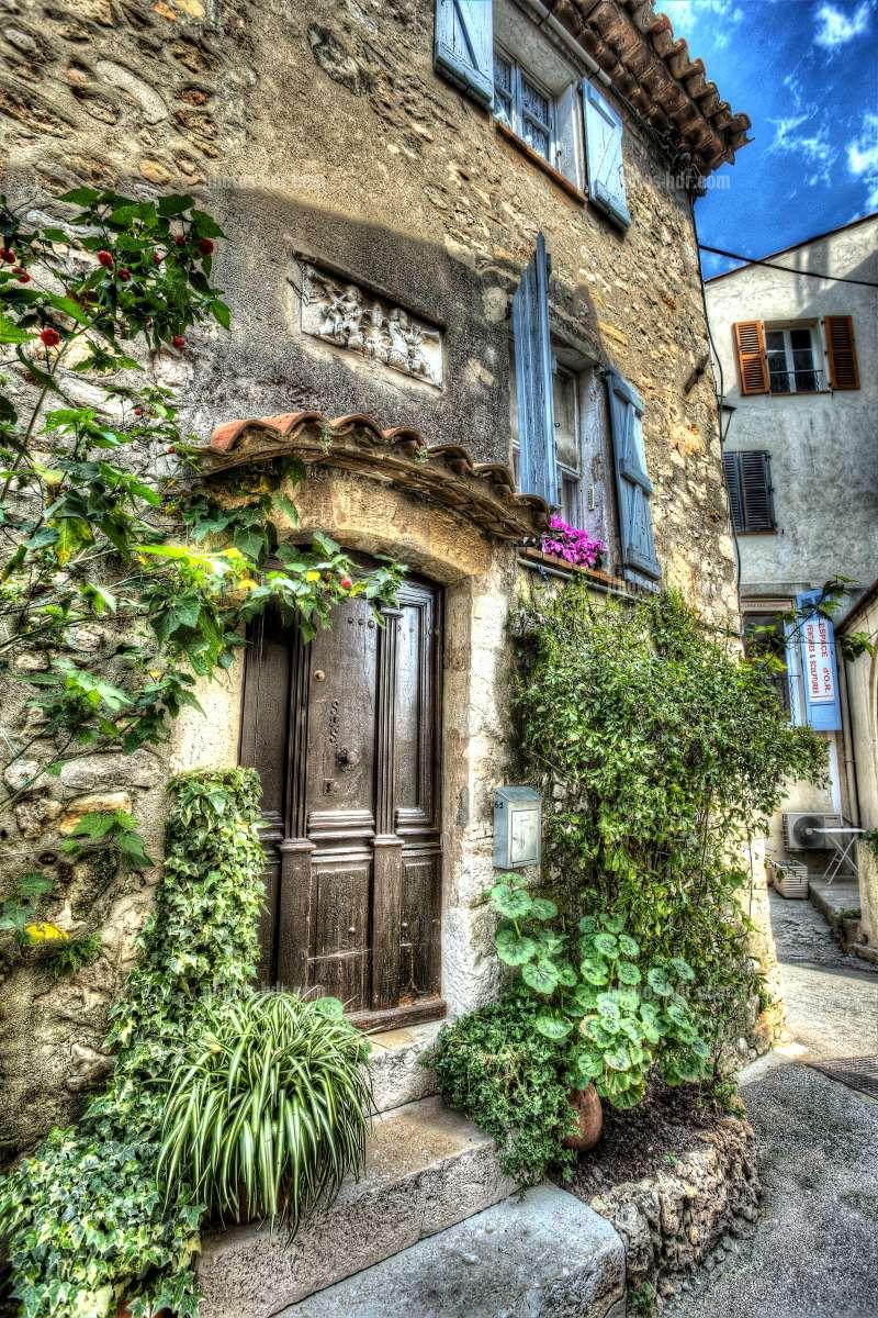 photo vieille maison de mougins photos hdr villages de france. Black Bedroom Furniture Sets. Home Design Ideas